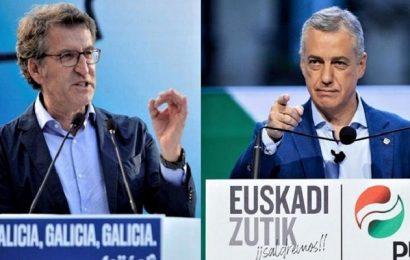 Feijóo consigue su cuarta mayoría absoluta en Galicia y Urkullu gana en el País Vasco