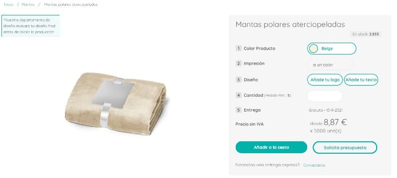 Configurador online de Moloon